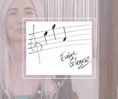 Evelyn Glennie share the love notes
