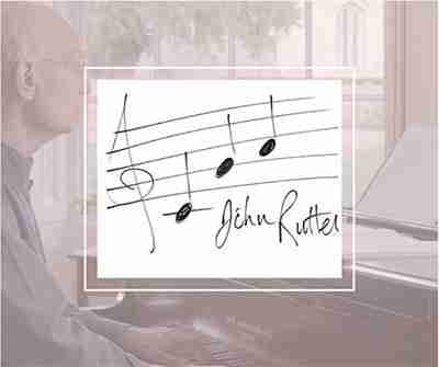 John Rutter share the love notes